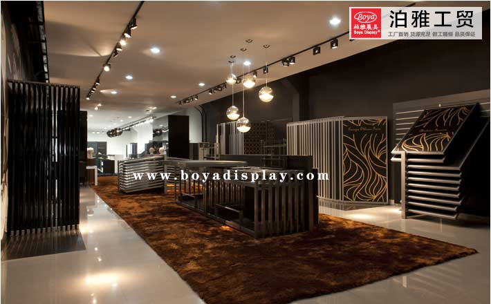 Ceramic Tile Exhibition hall case-11 - Boya Display
