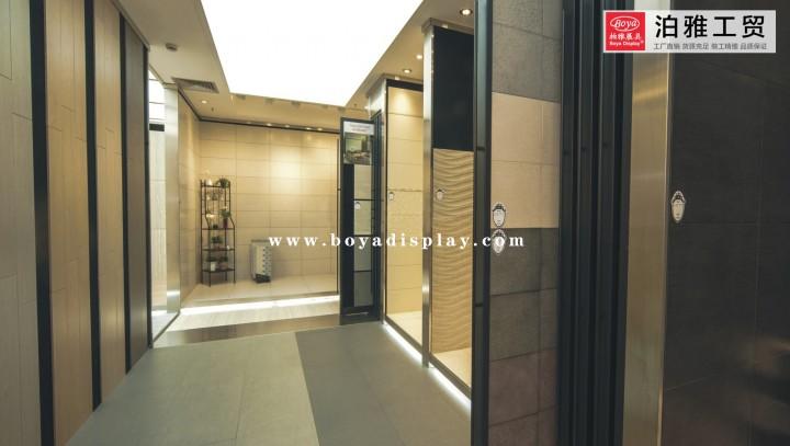 Ceramic Tile Exhibition hall case-07 - Boya Display